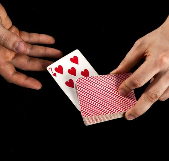 close-up magic with playing cards